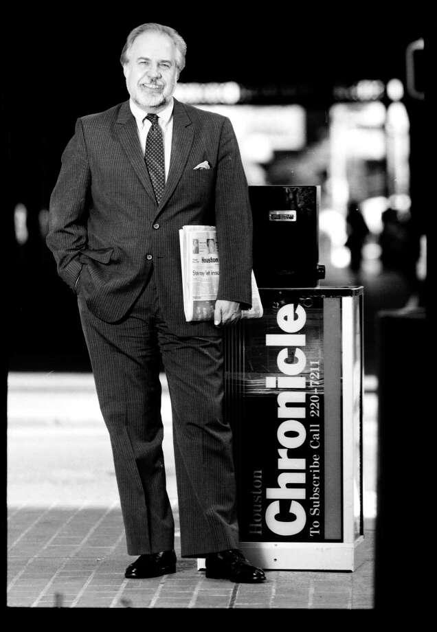 12/03/1987 -- Jack Loftis - Houston Chronicle vice president and Editor Photo: HC Staff / Houston Chronicle
