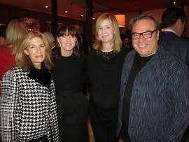 2015 FOG Design + Art Fair co-chairs Cathy Topham (left), Allison Speer, Katie Schwab Paige and Stanlee Gatti at Cotogna in San Francisco for a kickoff dinner hosted by Citibank.