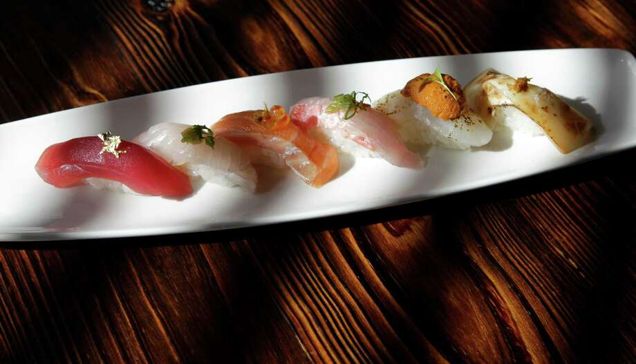 KUU offers a selection of nigiri. Photo: Melissa Phillip, Staff / © 2014  Houston Chronicle