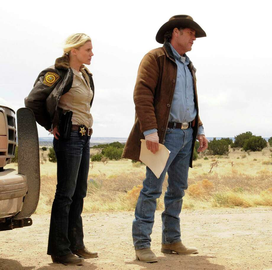 "Katee Sackhoff and Robert Taylor star in ""Longmire."" A new season will please older viewers who have money to spend, Scott Burns predicts. Photo: HANDOUT, HO / MCT"