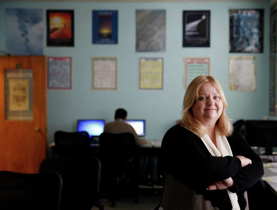 Wendy Still, San Francisco's chief adult probation officer, in the Adult Probation 5 Keys Charter School Learning Center. Photo: Lea Suzuki / The Chronicle / ONLINE_YES
