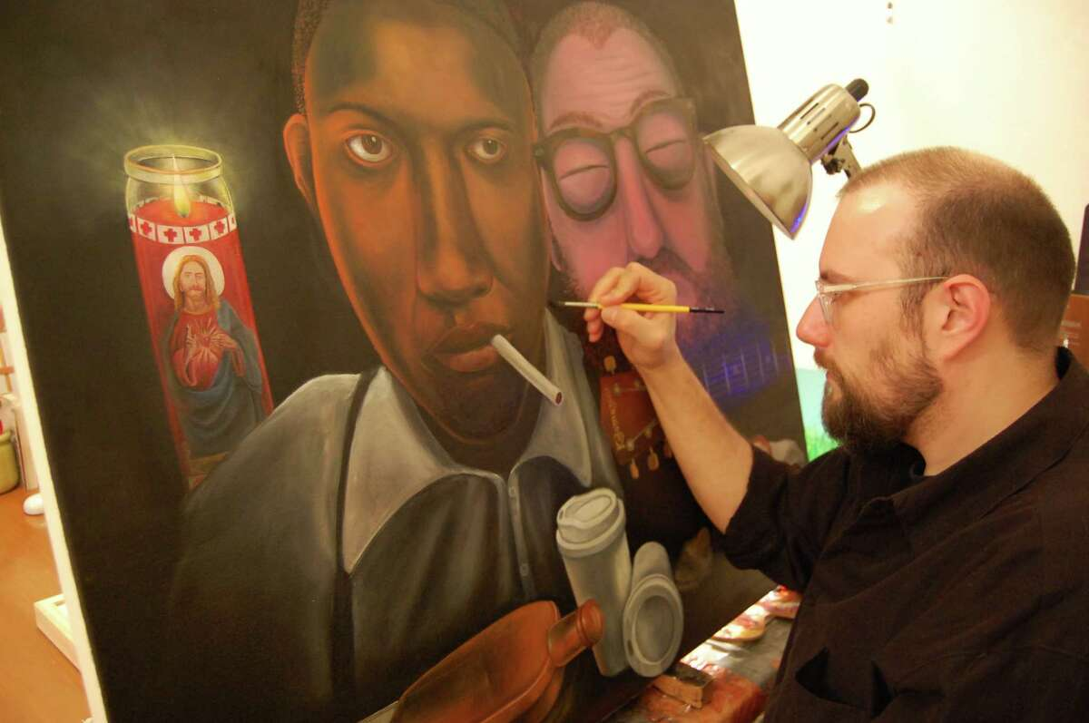 Brian Cirmo at work Courtesy of the artist