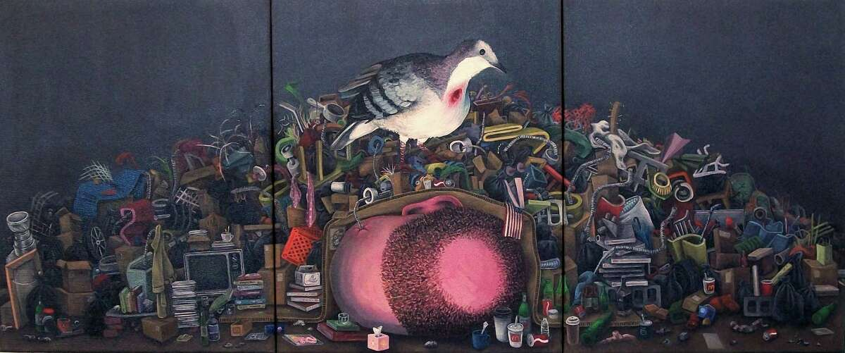 """""""Wounded Pidgeon"""" 2014 - Oil on canvass Photo: Courtesy of artist"""