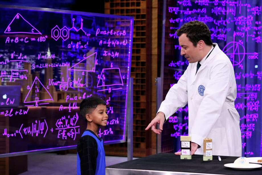 "Tired of having to stop playtime to grab a paper towel to wipe his sweaty brow, Justin Mathew came up with a shirt with absorbent sleeves with which he can mope off sweat on the go without losing a beat.  That lead to an appearance with Jimmy Fallon on ""The Tonight Show."" Photo: Kim Christensen, Contributor / 2014 NBCUniversal Media, LLC"