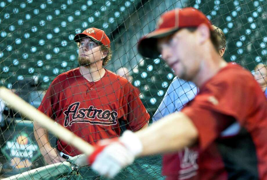 Jeff Bagwell served as Astros hitting coach for the second half of the 2010 season. Photo: Brett Coomer, Staff / Houston Chronicle