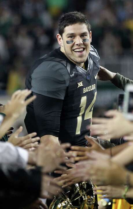 "Bryce Petty ends his Baylor career happy to be ""in that conversation"" about the best quarterback the school has seen. Photo: Jamie Squire, Staff / 2014 Getty Images"