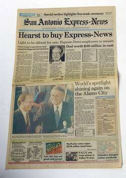 This shocking news greeted Express-News readers the morning of Oct. 7, 1992. Photo: San Antonio Express-News