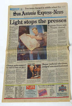 This was the front page of the Express-News on Jan. 28, 1993. Photo: San Antonio Express-News