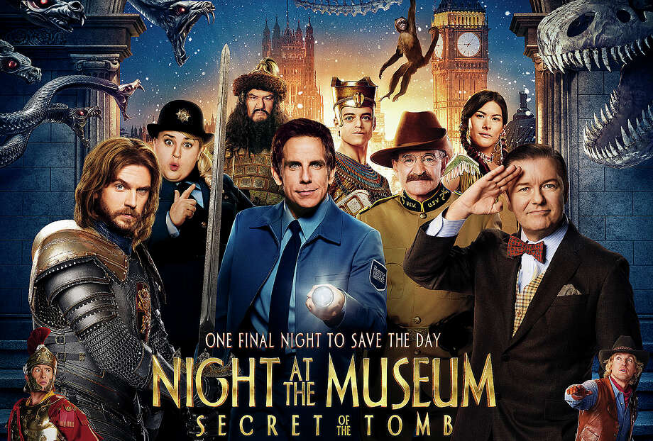 """Night at the Museum: Secret of the Tomb,"" the third installment in the movie series starring Ben Stiller, is now playing in area theaters. Photo: Contributed Photo / Westport News"