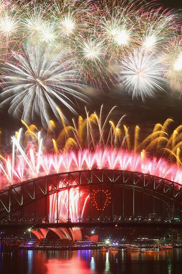Sydney, la capital de Australia, ya celebró su noche de Fin de Año, con un despliegue espectacular de fuegos artificiales. Photo: Cameron Spencer, Getty Images