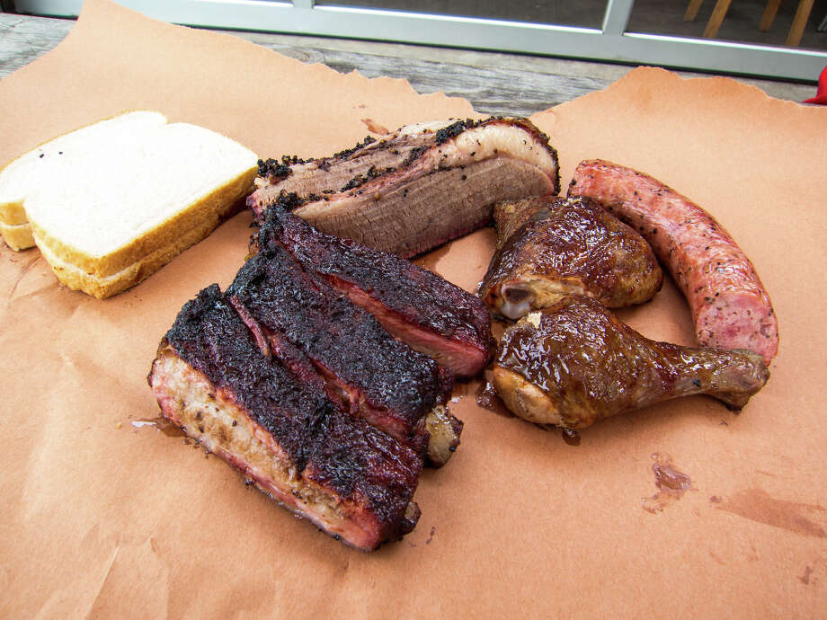 Smoked meats from Wesley Jurena's Pappa Charlies Barbeque trailer. Photo: J.C. Reid / ONLINE_YES