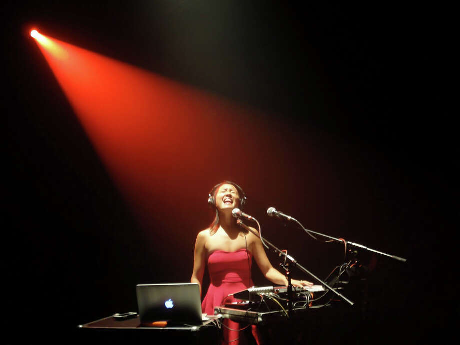 Kawehi, a Lawrence, Kansas-based singer and composer, will be bringing her voice, guitar, keyboard, sampler and laptop to the Fairfield (Conn.) Theatre Company to create an evening of unique compositions on Saturday, Jan. 10, 2015. It is part of a number of tour dates she has lined up along the East Coast. Photo: Contributed Photo / Stamford Advocate Contributed photo