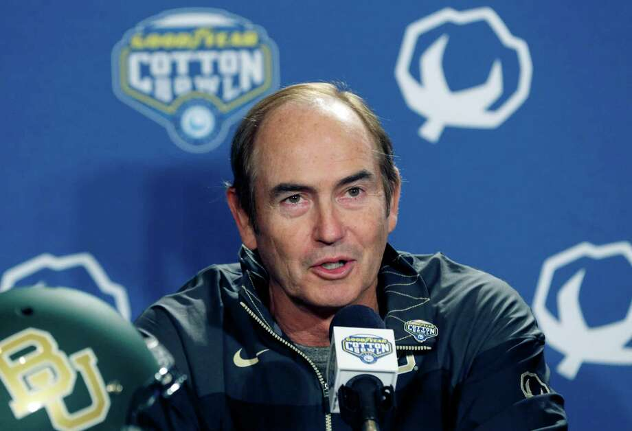 Baylor coach Art Briles speaks to reporters during a news conference on Dec. 31, 2014, in Dallas. Baylor and Michigan State will face off in the Cotton Bowl on New Year's Day in Arlington. Photo: LM Otero /Associated Press / AP