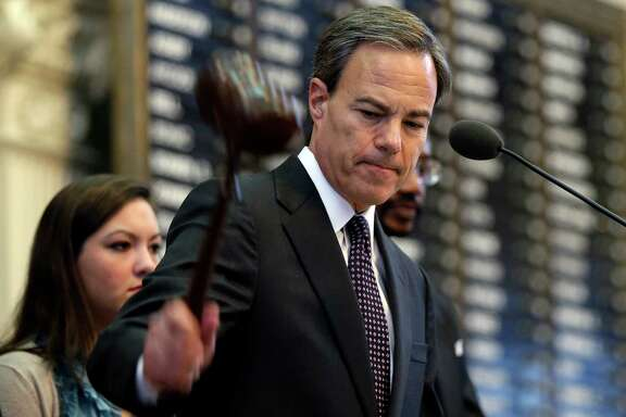 "Texas Speaker Joe Straus says that ""in a political system that often promotes only the loudest and the most outrageous voices, keeping the focus on issues like education and roads is not always easy."" ,"