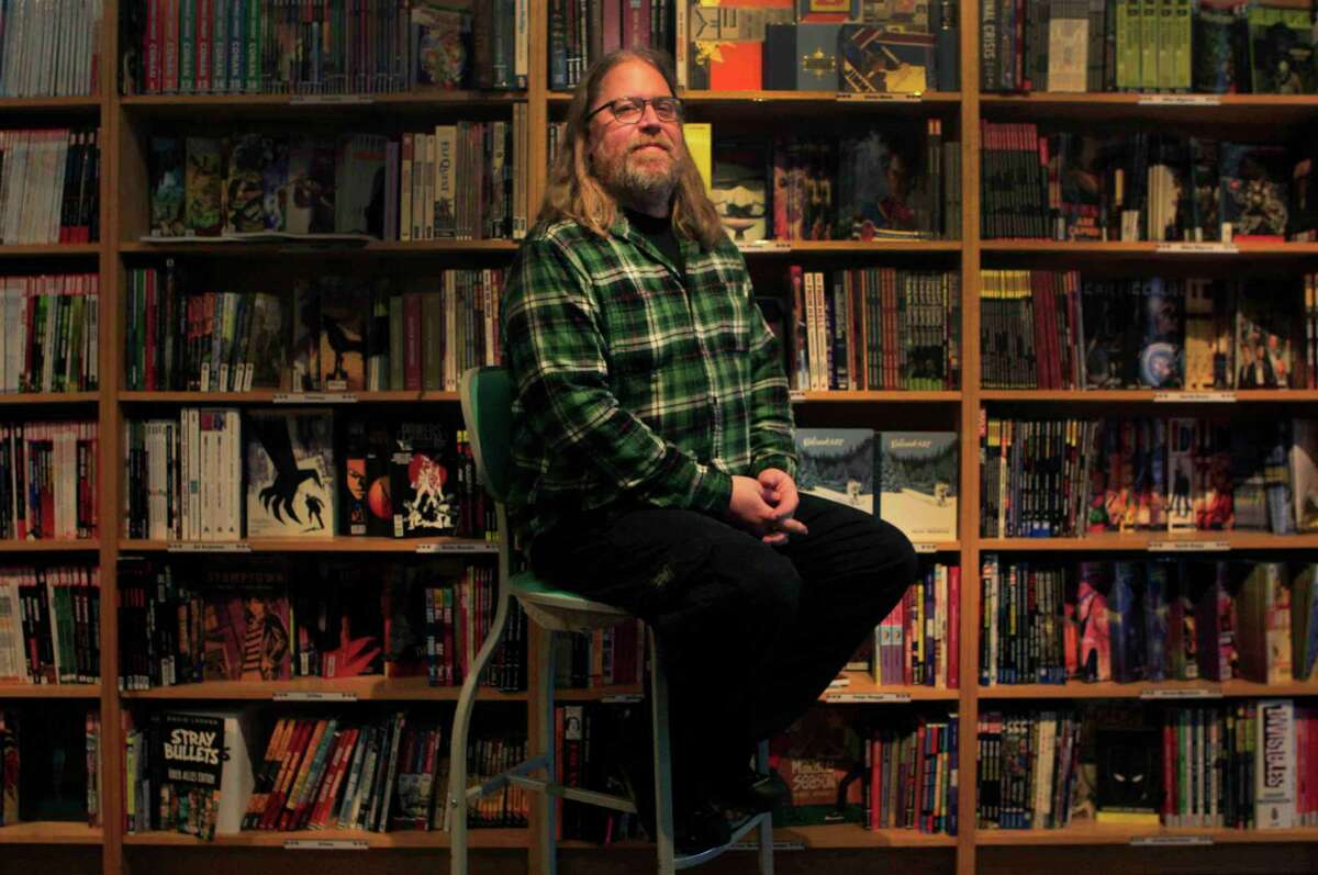 Brian Hibbs, owner of Comix Exchange on Divisadero Street in San Francisco, Calif. Wednesday, December 24, 2014.