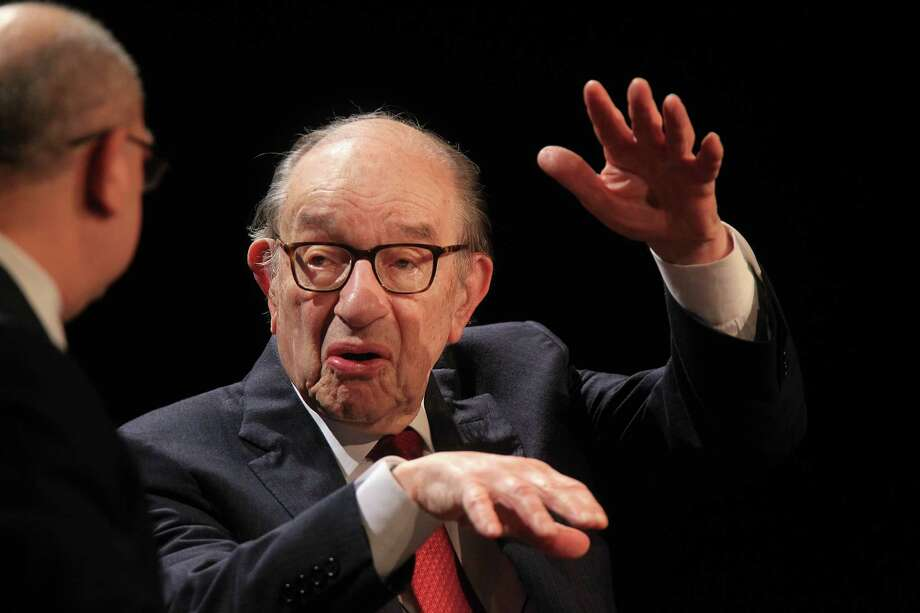 """Alan Greenspan, shown in Houston in February, says the U.S. economy is """"still not doing all that well."""" Photo: Mayra Beltran, HC Staff / © 2014 Houston Chronicle"""