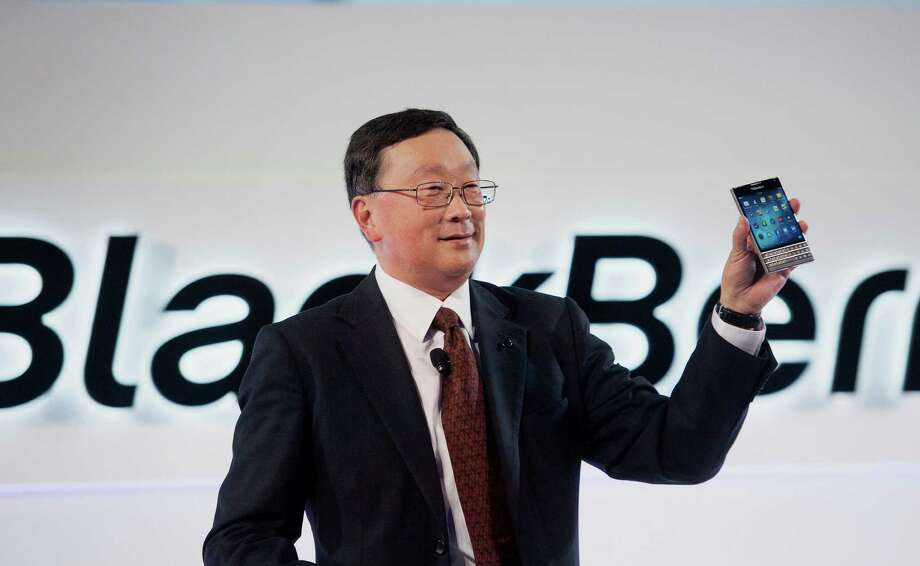 John Chen, CEO of BlackBerry, was proud of the new Passport smartphone in September, but the older model BlackBerrys came in handy for Sony Corp. when company email was unusable after a cyberattack.  Photo: Hannah Yoon / © 2014 Bloomberg Finance LP
