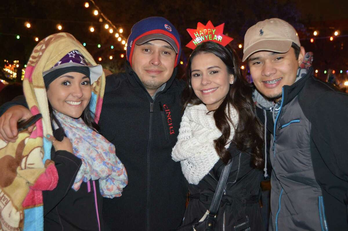 Revelers prepare to ring in the New Year at Celebrate San Antonio near HemisFair Park on Wednesday, Dec. 31, 2014.
