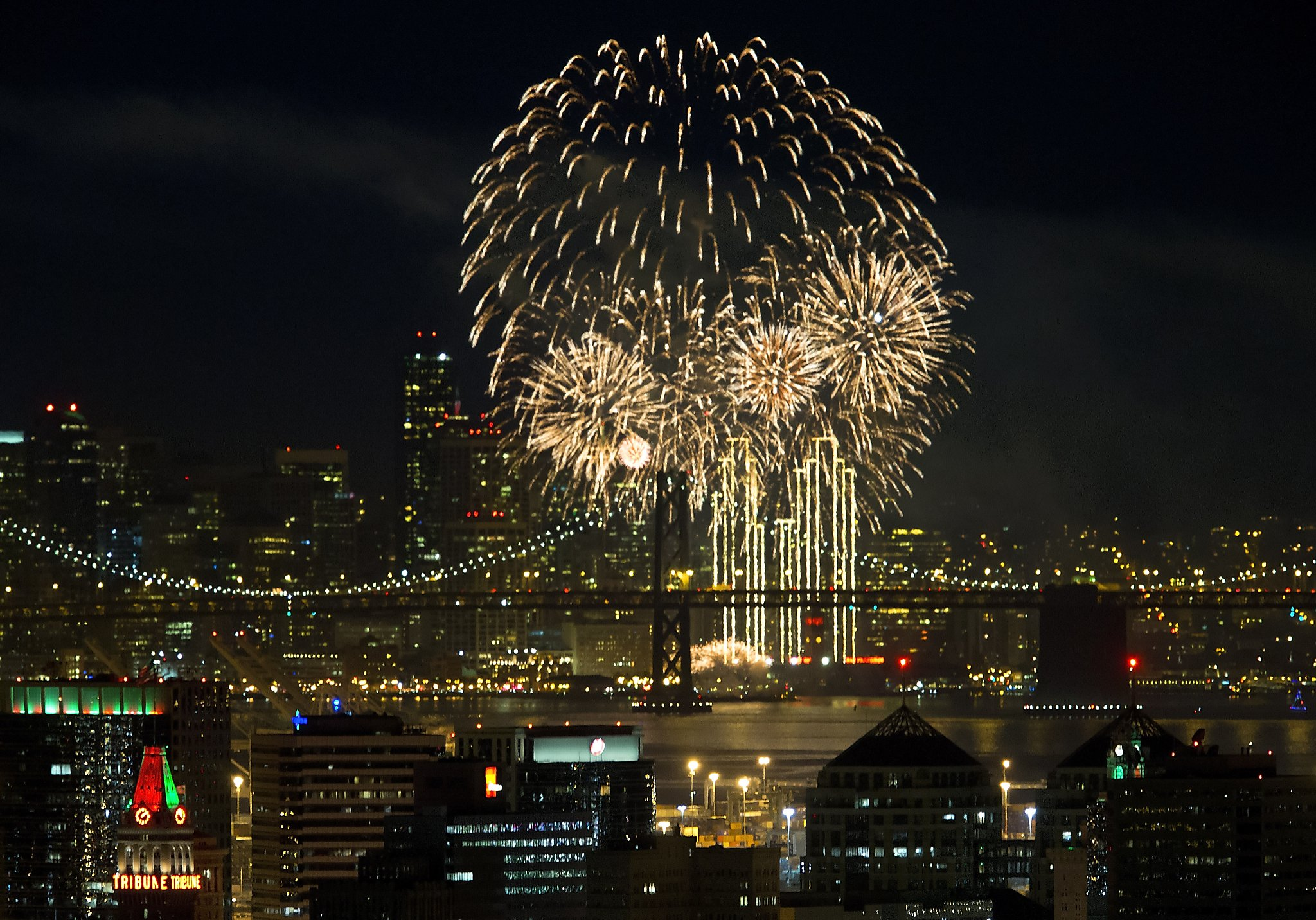 Crowds in S.F., Oakland brave cold for New Year's Eve ...