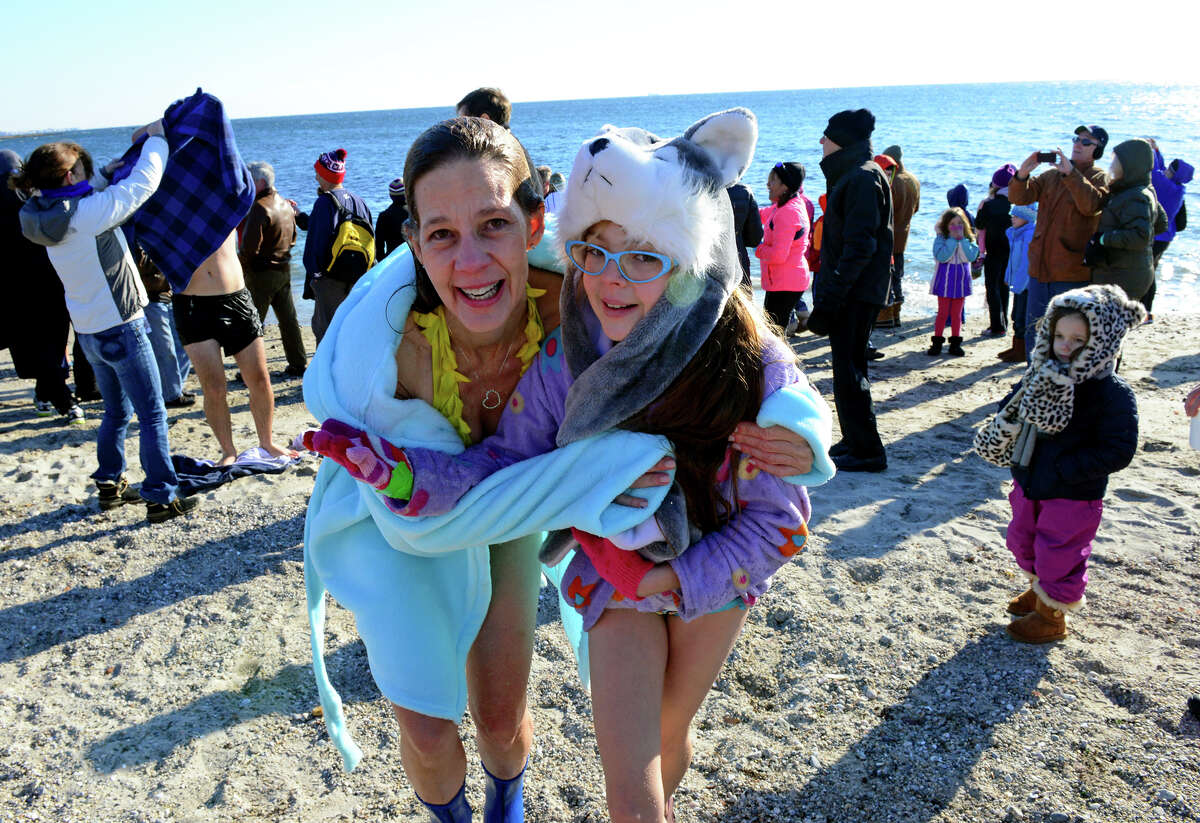 Sarra Kennedy, of Fairfield, and her daughter Marygrace, 11, take part in the 11th Annual