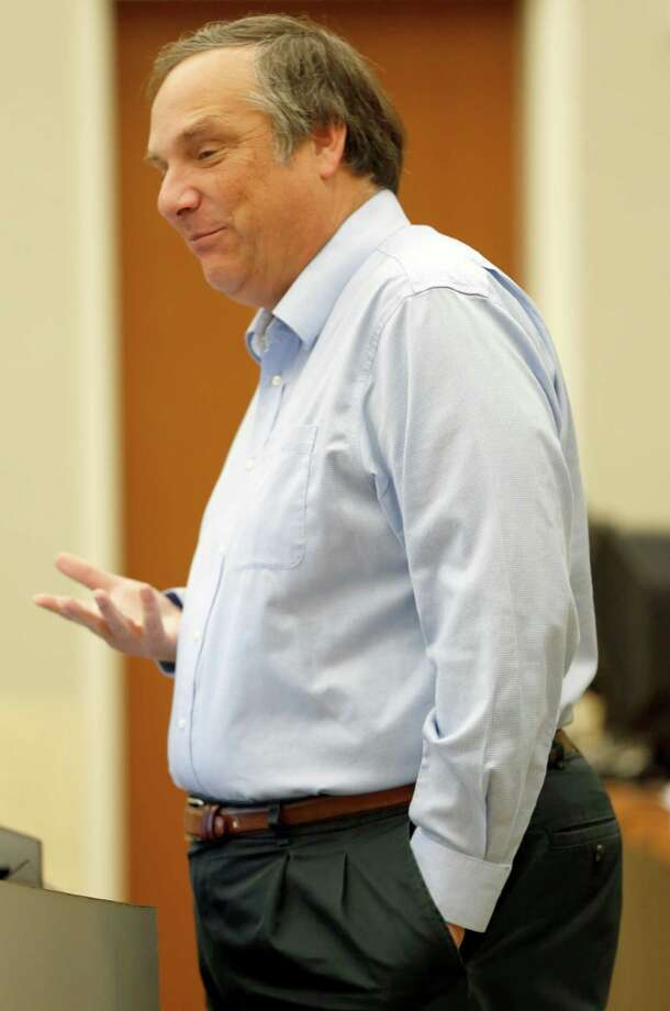 State climatologist John Nielsen-Gammon, seen addressing the Edwards Aquifer Authority board in May, said he's more optimistic now than he's been since the drought began in late 2010 that the dry spell is loosening its grip on Texas. Photo: William Luther /San Antonio Express-News / © 2014 San Antonio Express-News