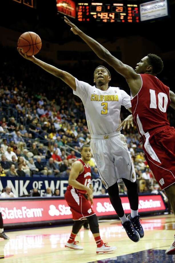 Cal guard Tyrone Wallace (3) who leads the team in scoring and rebounding, could use some help from teammates in both areas now that play in the rugged Pac-12 is about to begin. Photo: Beck Diefenbach / Associated Press / FR170639 AP