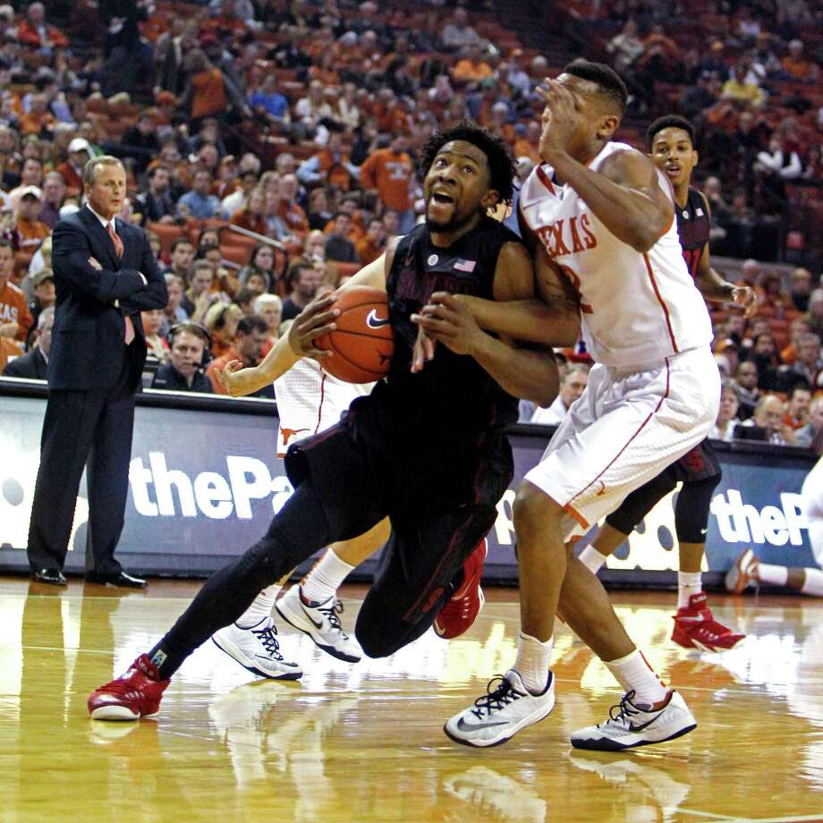 Chasson Randle is averaging 18.5 points in the early part of Stanford's season, which included an upset win over Texas. Photo: Michael Thomas / Associated Press / FR65778 AP