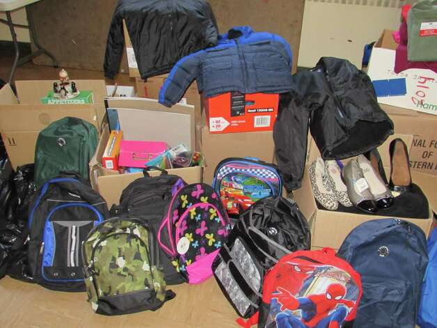 School and children's Items donated the Roarke Center (Submitted photo)
