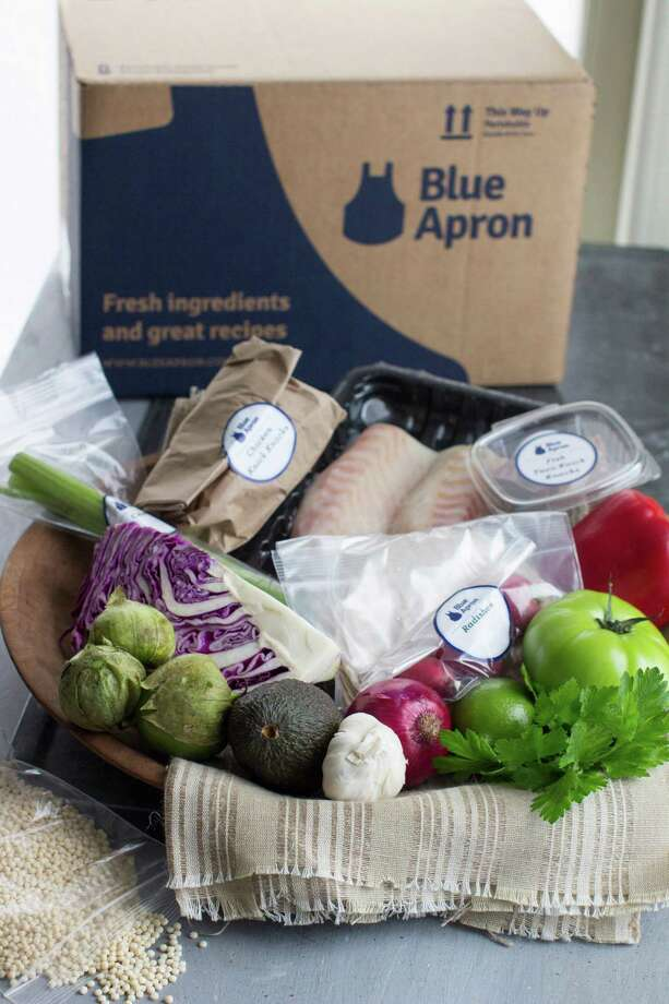 These food items could be delivered to your home by Blue Apron. It and other sites deliver weekly boxes of raw ingredients - including spices. Photo: Matthew Mead, FRE / FR170582 AP
