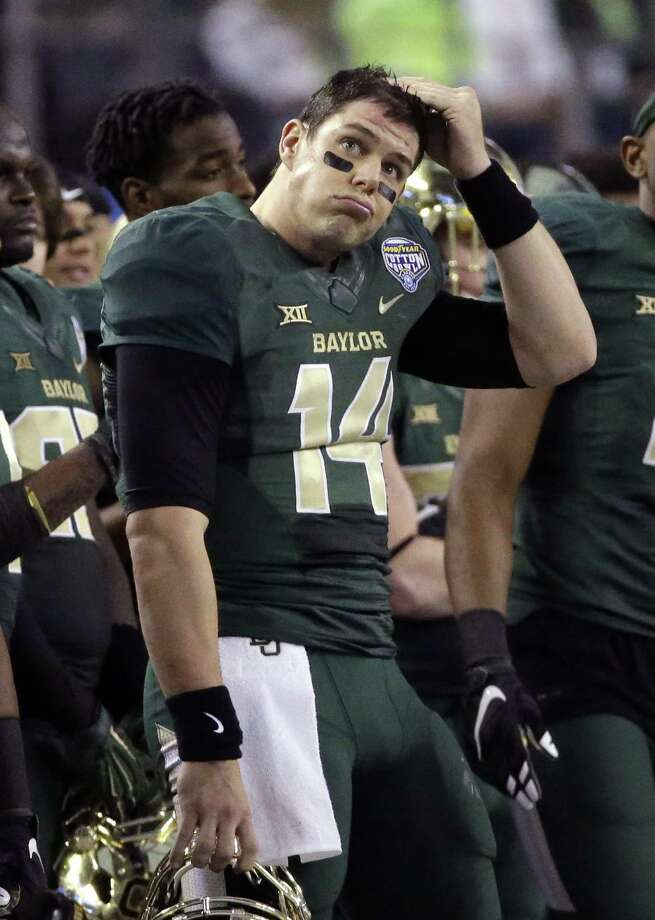 Baylor quarterback Bryce Petty wonders what else he could have done after throwing for a Cotton Bowl-record 550 yards Thursday. Photo: LM Otero, STF / AP