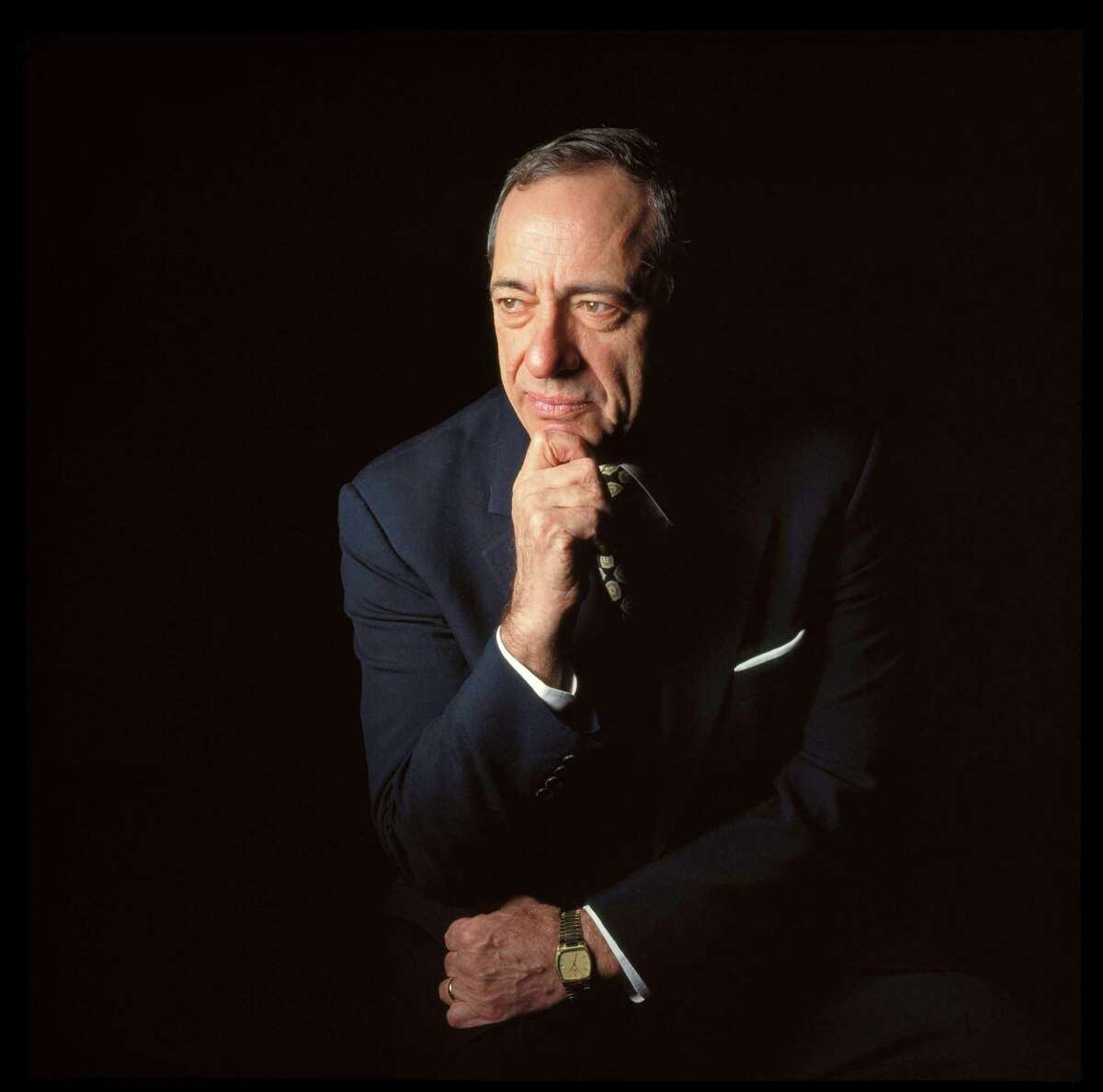 FILE -- Mario Cuomo, the three-term Democratic governor of New York, in 1995. Cuomo, who commanded the attention of the country with a compelling public presence and a forceful defense of liberalism, died at home in Manhattan on Jan. 1, 2015. He was 82. (Fred R. Conrad/The New York Times) ORG XMIT: XNYT132