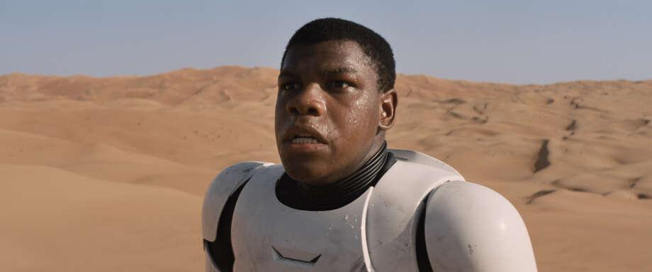 """John Boyega stars in """"Star Wars: The Force Awakens.""""  Ph: Film Frame  ©Lucasfilm 2015 Photo: Disney / © Lucasfilm Ltd. & TM. All rights reserved."""