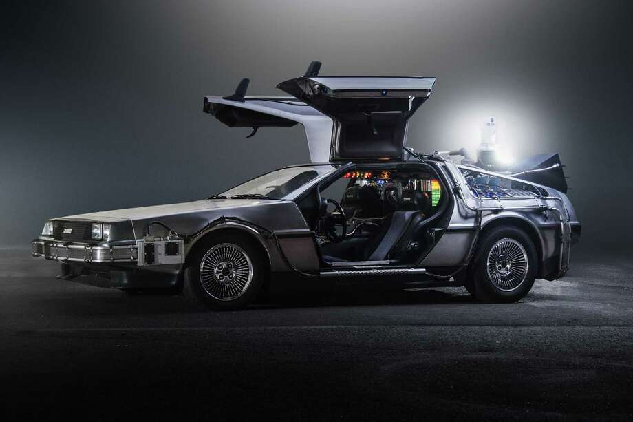 The DeLorean time machine Dr. Emmet Brown built a flux capacitator-activated time machine from a DeLorean DMC-12. This plot device drove the highest grossing film of 1985, 'Back to the Future.'  Photo: JMortonPhoto.com & OtoGodfrey.com, Getty Images / Free to use for non-commercial purposes.