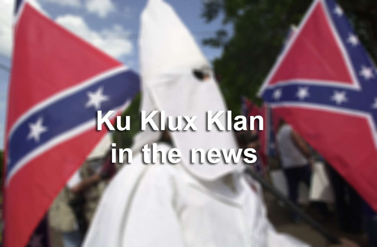 The gallery shows news coverage of the Ku Klux Klan throughout the years.