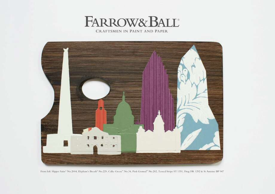 Bailey McCarthy's Texas Palette for Farrow & Ball was inspired by iconic buildings across Texas, including the Bank of America tower in downtown Houston.