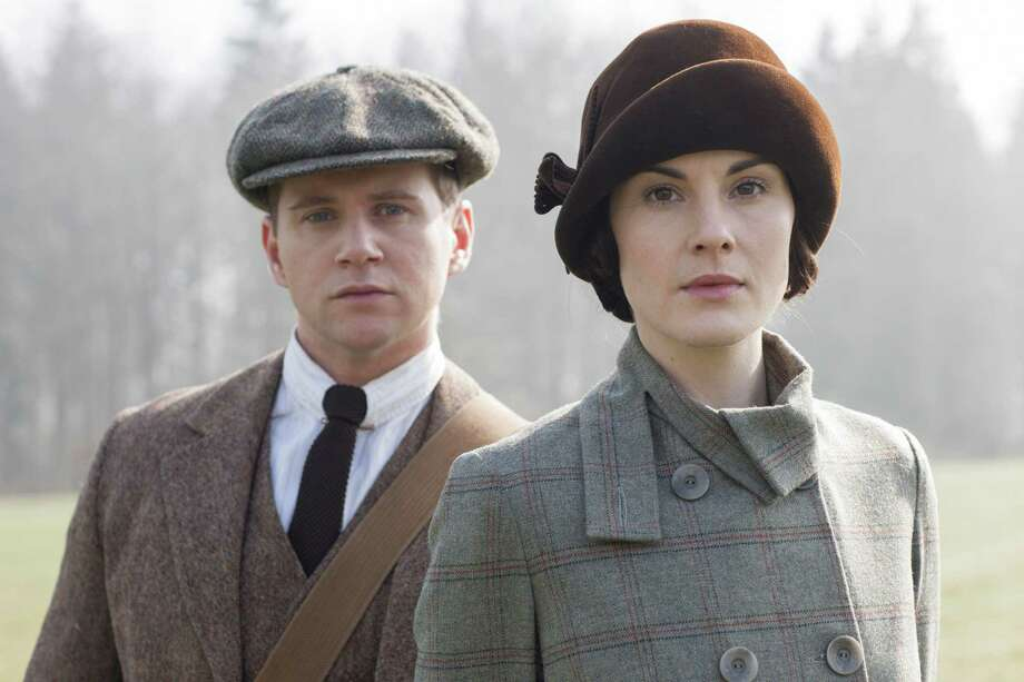 """Tom Branson (Allen Leech) and Lady Mary (Michelle Dockery) face new challenges in Season 5 of """"Downton Abbey."""" Photo: Nick Briggs/Masterpiece, Photographer / © Carnival Film & Television Ltd"""