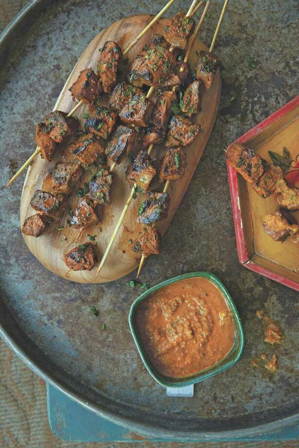 Peruvian Beef Kebabs (Anticuchos with Roasted Yellow Pepper Sauce) Photo: Oxmoor House