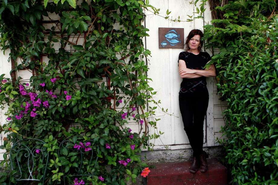 British music journalist Sylvie Simmons, at her San Francsico home in 2012, has a solo album out. Photo: Beck Diefenbach / Special To The Chronicle / ONLINE_YES