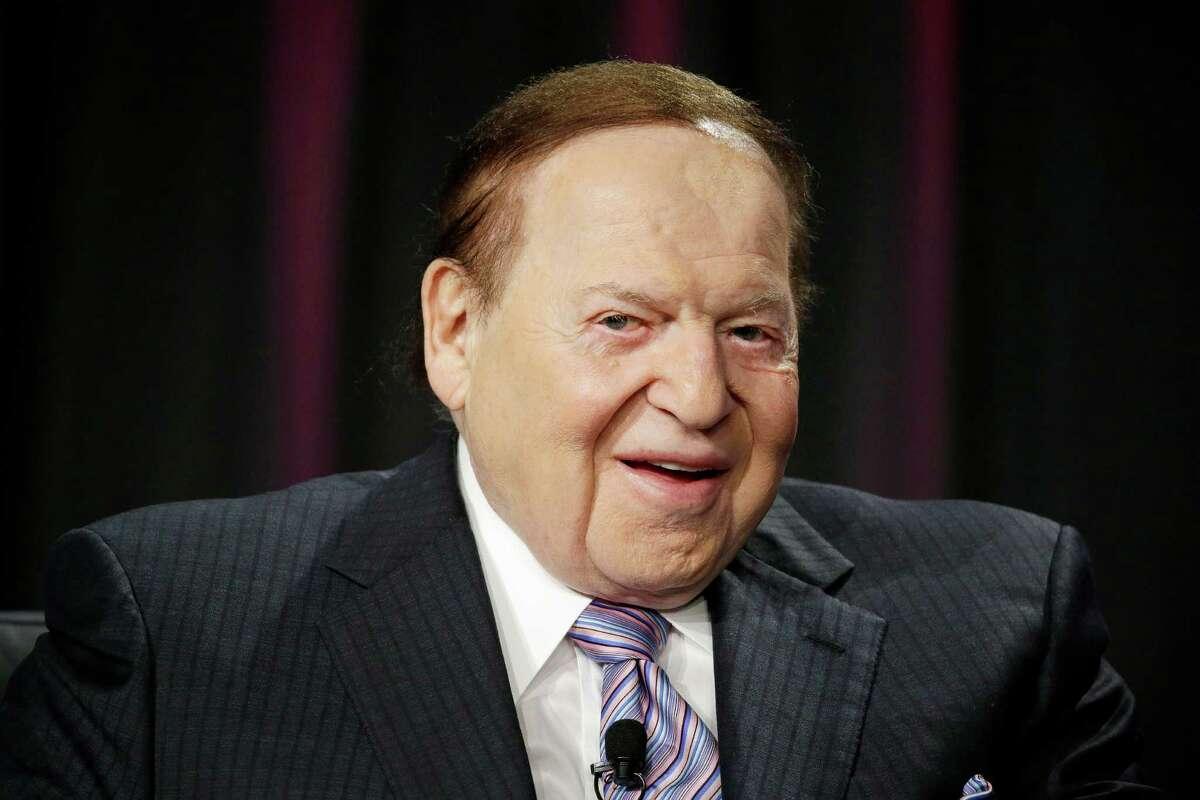 In this photo taken Oct. 1, 2014, Las Vegas Sands Corp. CEO Sheldon Adelson speaks in Las Vegas.
