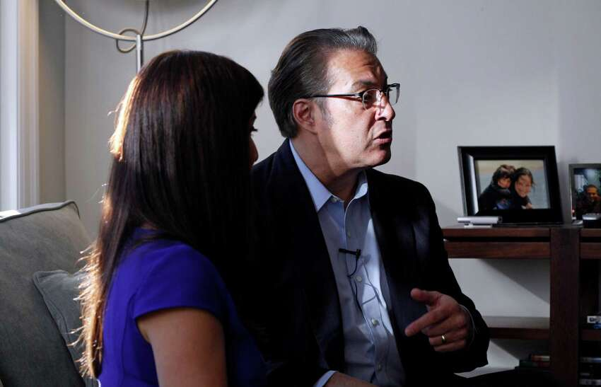 San Francisco County Sheriff Ross Mirkarimi and his wife Eliana Lopez sit for an interview with The Chronicle at their home on December 31, 2014 in San Francisco, Calif.