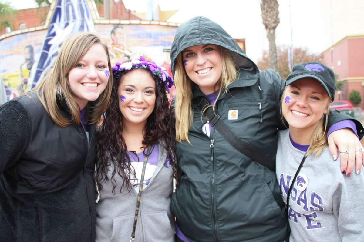 Kansas State and UCLA fans tailgate before the Valero Alamo Bowl at the Alamodome on Friday, Jan. 2, 2015.