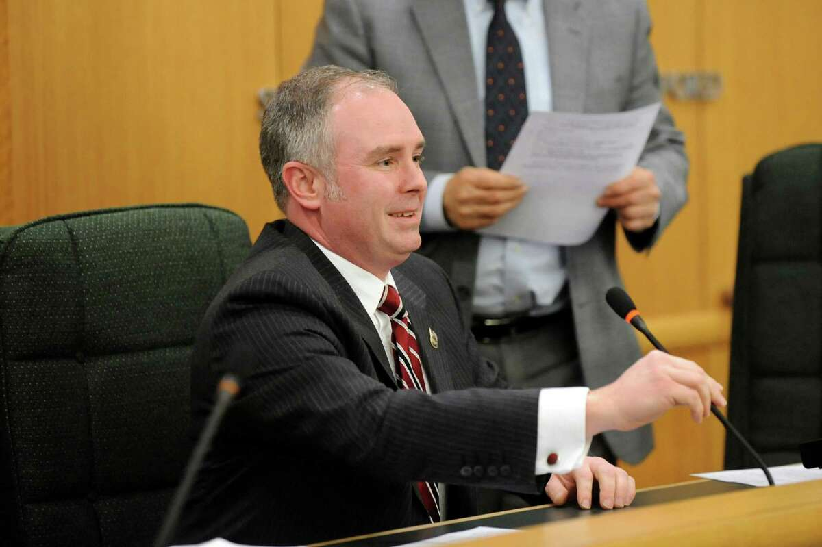 Matthew Veitch, at the Saratoga County Board of Supervisors on Friday, Jan. 2, 2015, is the chair of the county's Buildings and Grounds committee. (Cindy Schultz / Times Union)