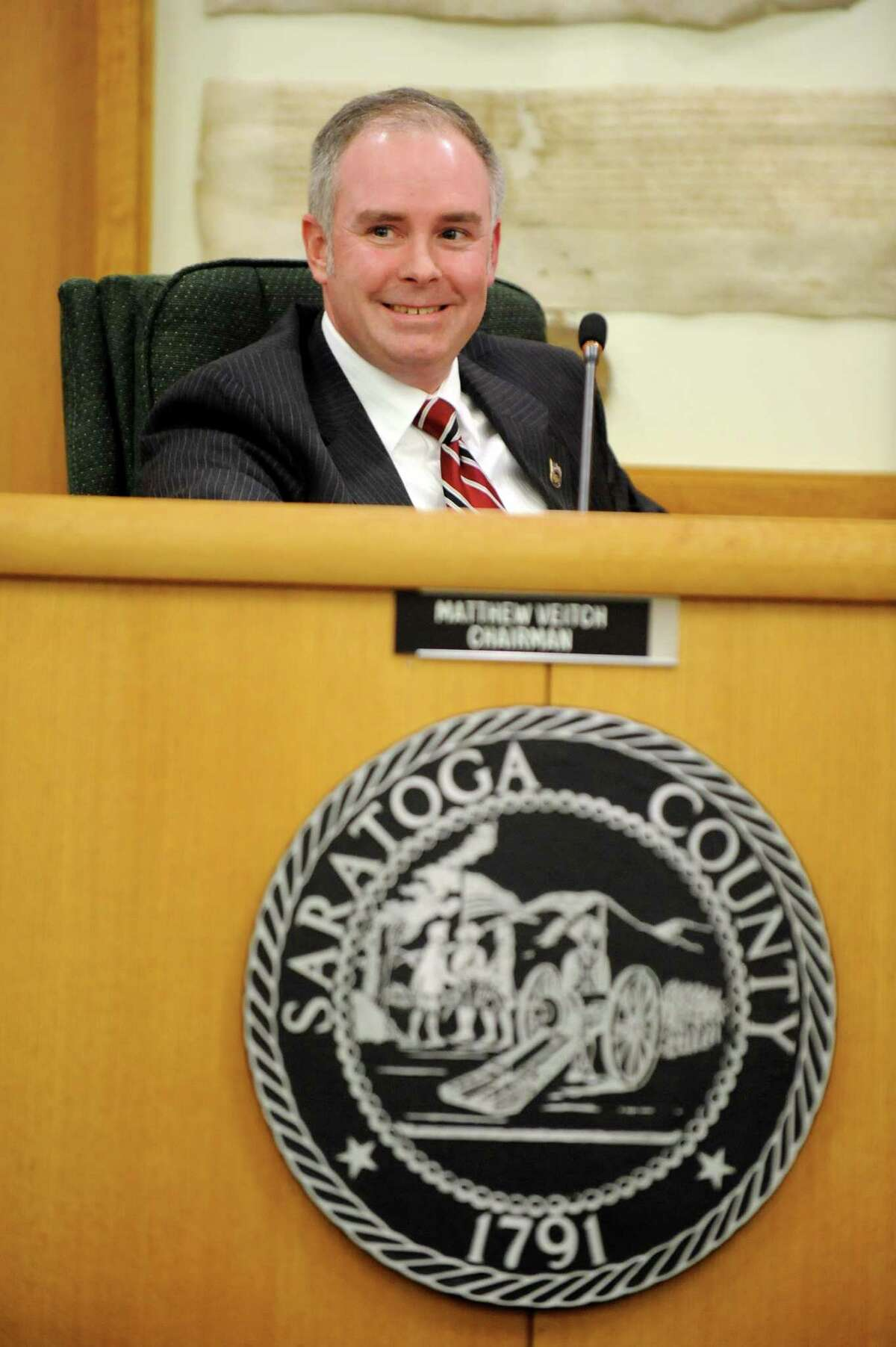 Incumbent Saratoga Springs Supervisor Matthew Veitch on Friday, Jan. 2, 2015, at the Saratoga County Board of Supervisors in Ballston Spa, N.Y. (Cindy Schultz / Times Union)