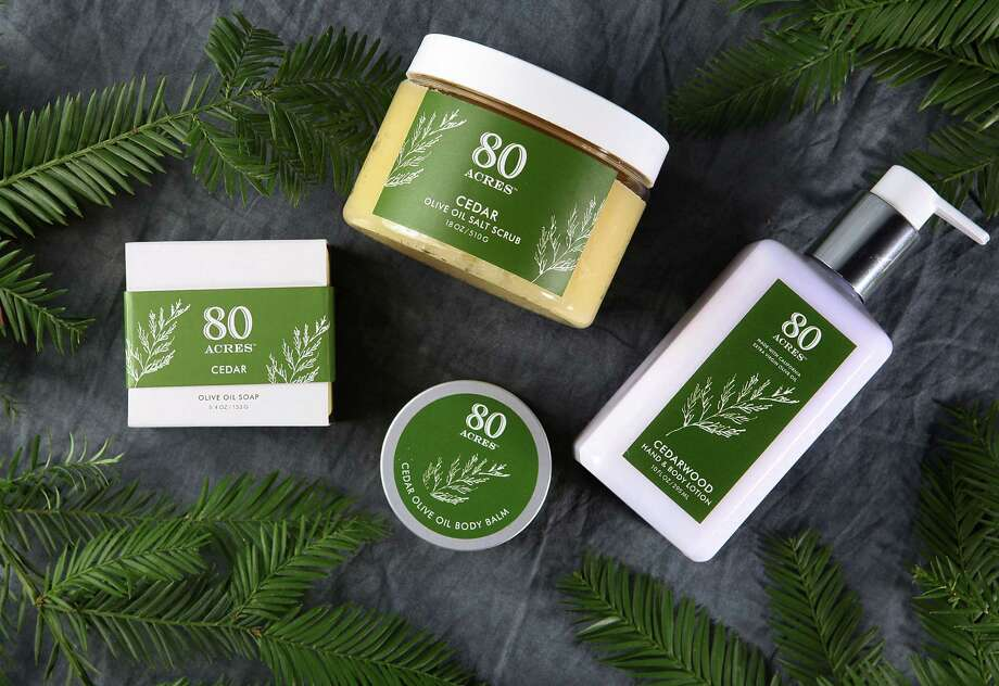 McEvoy Ranch in Petaluma launches 80 acres, a new line of cedar and olive ail bath and body products. Photo: Liz Hafalia / The Chronicle / ONLINE_YES