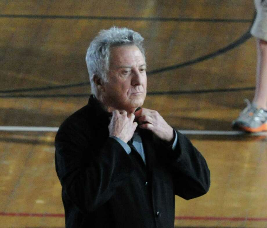 "Back in March, actor Dustin Hoffman was seen around Greenwich while in town filming ""Boychoir."" Photo: Bob Luckey / Greenwich Time"