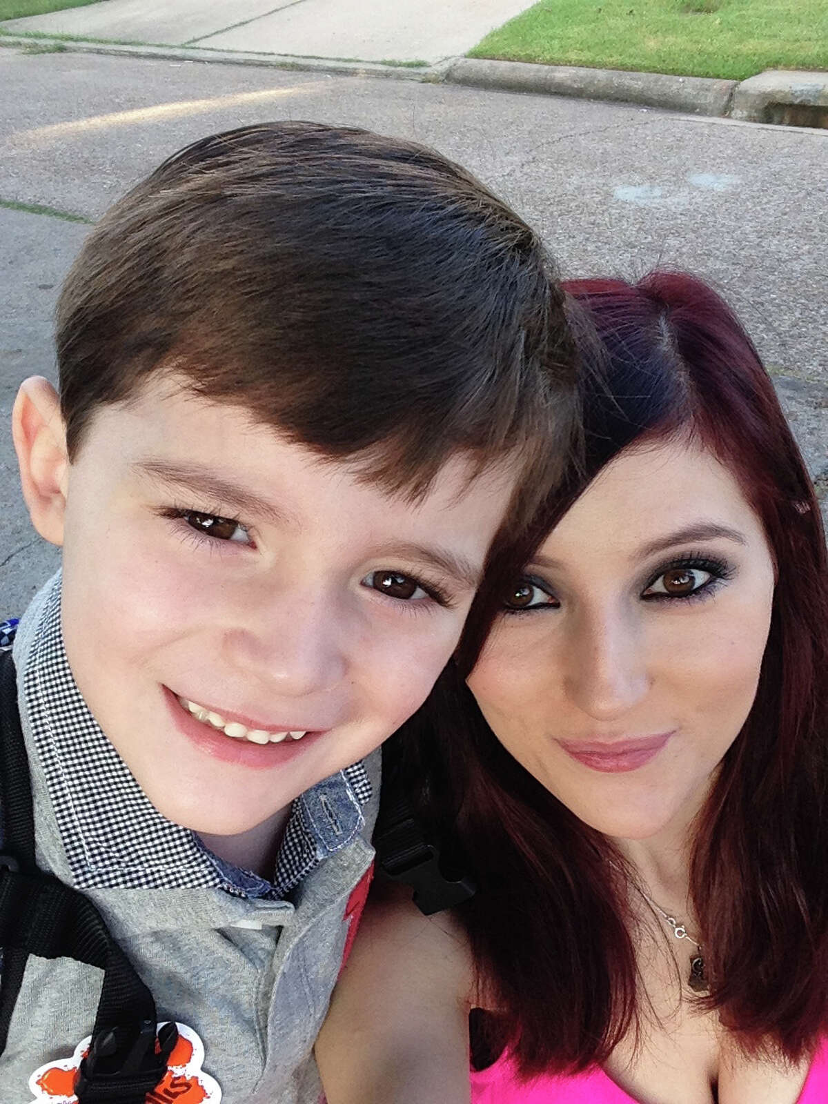Victim Monica Ramirez is shown with her 6-year-old son, Tyler