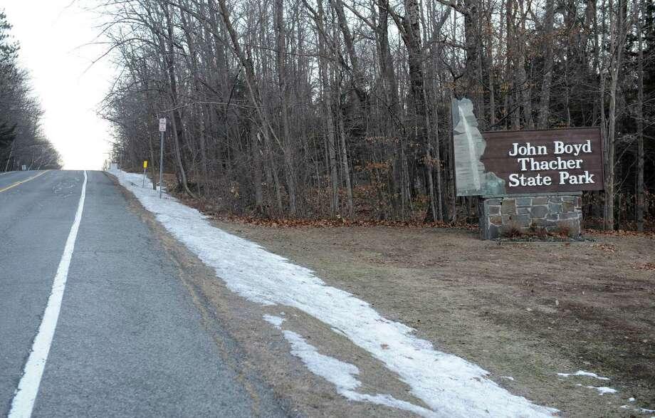 Entrance to John Boyd Thacher State Park. Photo: Lori Van Buren / 00030031A