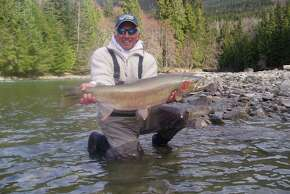 Armand Castagna, who caught and released this 20-pound, 8-ounce steelhead in British Columbia, was instrumental in getting records recognized for fish that have been released.