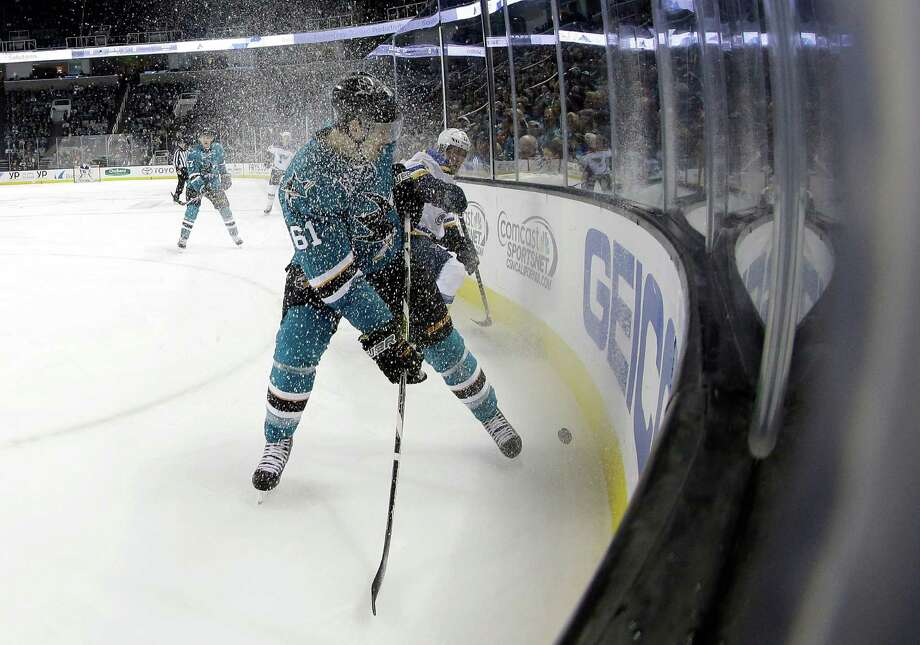 Fans are used to seeing the Sharks' Justin Braun play at the SAP Center, but soon the team's top minor-league affiliate will play there too. The Worcester, Mass., franchise in the American Hockey League is moving California along with several other franchises, and they will soon play in San Jose's SAP Center, at least initially. Photo: Ezra Shaw / Getty Images / 2015 Getty Images