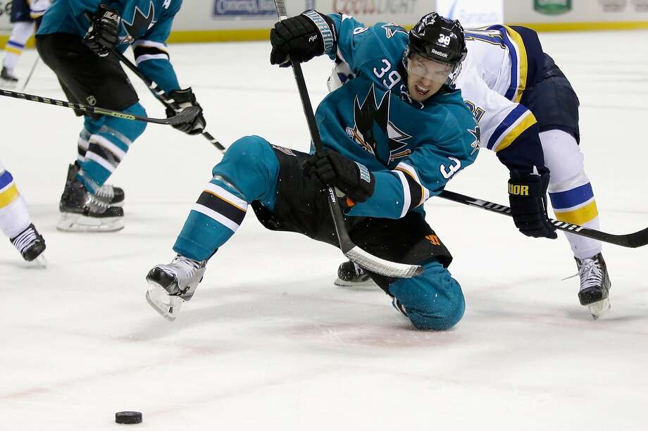 Logan Couture, who was the last player drafted by the Sharks in the top 10 (No. 9 in 2007), played in every game last season. He had 27 goals and 40 assists. Photo: Ezra Shaw, Getty Images